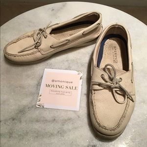 beige Sperry boat shoes loafers